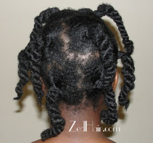 It is advisable to divide the hair either with twists or clips and wash a section at a time to reduce tangles.