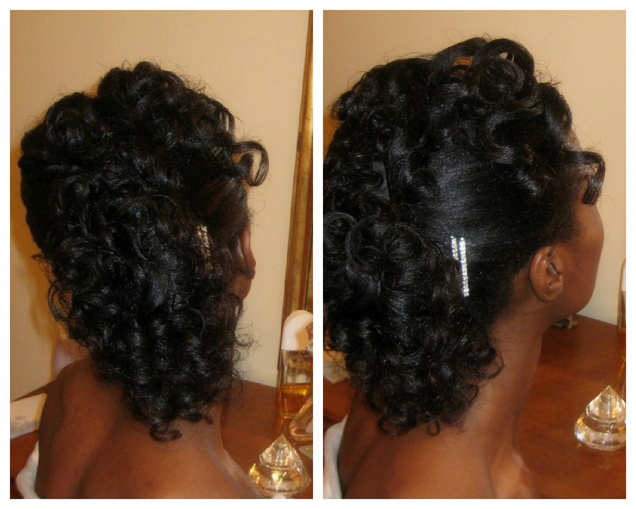 Braided Mohawk With Curly Weave For Kids Luyando wearing a curly faux-