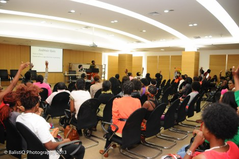 The natural hair quiz toward the end of the show generated a lot of excitement as people vied to win the prizes on offer