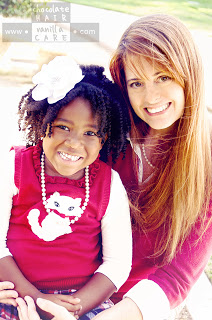 Rory and her daughter Boo of Chocolate Hair/Vanilla Care
