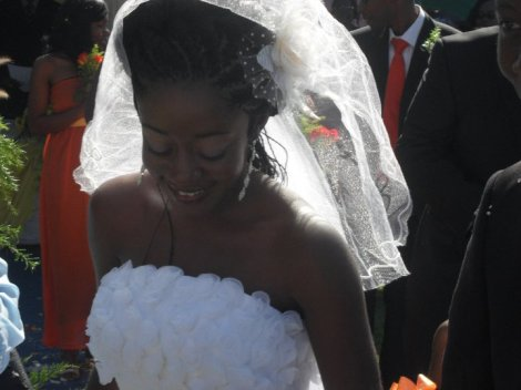 Chiteu on her wedding day
