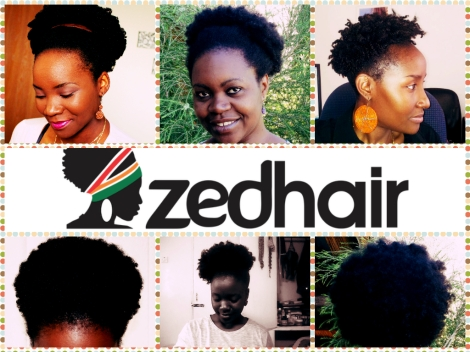 ZedHair Collage: The Afro Puff