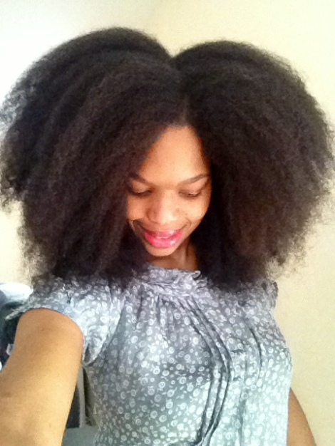 Big Afro - I achieved this style by moisturising and finger de-tangling to get the big fro.