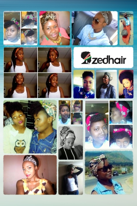Zedhair Collage: It's the African head tie