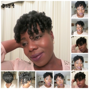 Hair challenge day four