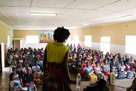 We were privileged to speak with the whole school -- over 200 students