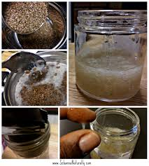 Make your own flaxseed gel.