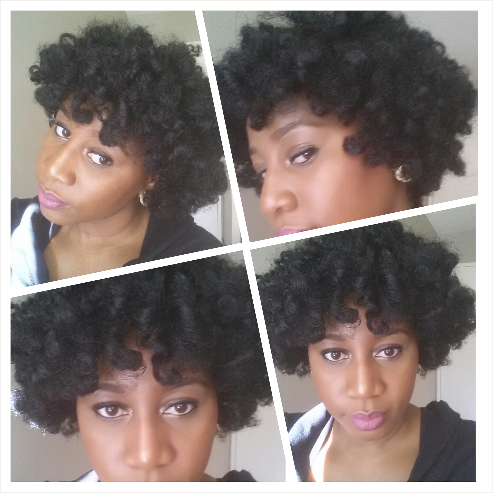 Natural Hair Using Sponge