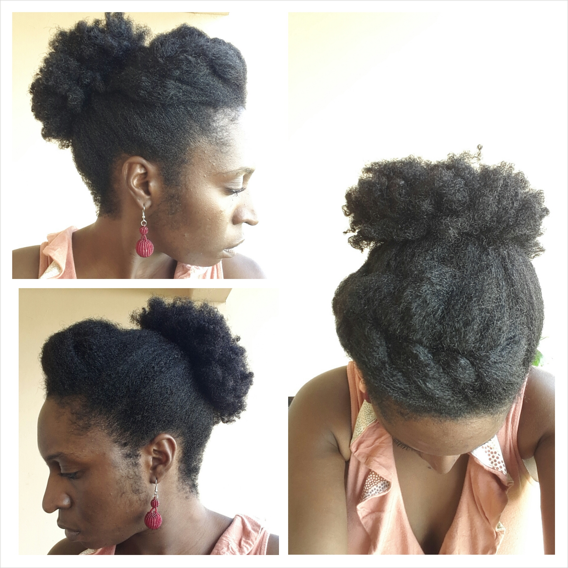 How I Wore My Hair Afro Puffs Zedhair