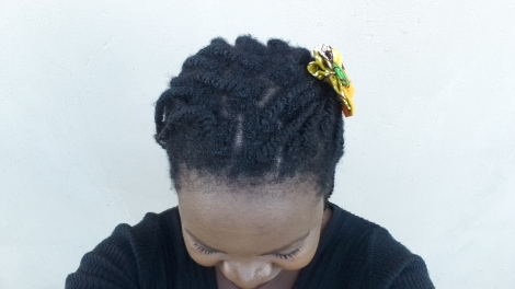 Top view with chitenge flower