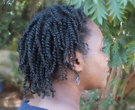 Day 3 - Twist out. This is the free side where you can really see the definition clearly