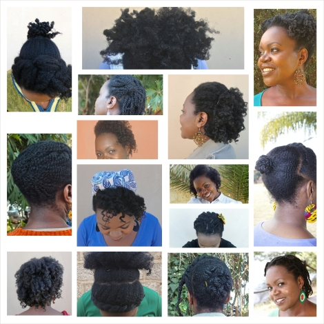 This is how I wore my hair over 15 consecutive days. it was actually 16, but the App would only allow me to upload 15 pictures.