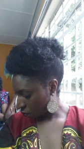 Same hairstyle done in January 2014 with a smaller puff and bigger fringe.