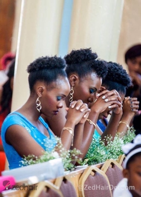 Bridesmaids with Permrod Set Updos styled by NAS Salon